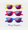 sunglasses set wayfarer shape multicolored vector image vector image