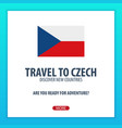 travel to czech discover and explore new vector image