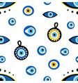 turkish blue eye-shaped amulets pattern vector image vector image
