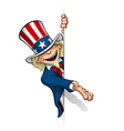 Uncle Sam Presenting a Banner vector image