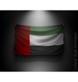 Waving flag United Arab Emirates on a dark wall vector image