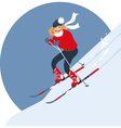 Woman alpine skiing vector image