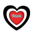 yemen country emblem logo in colors of the vector image