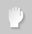 Paper fist vector image