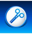 scissors icon white tool sign symbol shape vector image