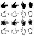 set of hand cursor pictograms vector image