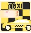 Taxi cab retro poster vector image