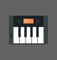 music keys icon electronic piano keyboard concept vector image