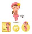 virgo collection zodiac signs vector image