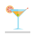 Cocktail in a glass isolated vector image