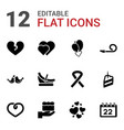 12 day icons vector image vector image