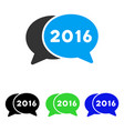 2016 chat flat icon vector image vector image