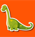 a dinosaur sticker character vector image