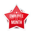 best employee month award badge vector image vector image