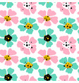 big flowers seamless pattern vector image vector image