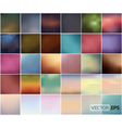 Big Set Of Soft Colored Abstract Background vector image vector image