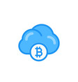 bitcoin cloud mining icon vector image vector image