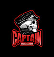 black skull mascot sport esport logo template vector image vector image