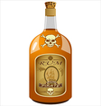 bottle of pirate rum vector image
