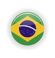 Brazil icon circle vector image vector image