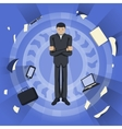 Business theme Young businessman vector image