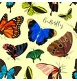 butterflies set pattern vector image