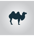 Camel Icon on grey background vector image vector image