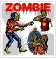 Cartoon zombie - set vector image