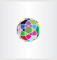 circle colorful logo geometric business icon vector image vector image