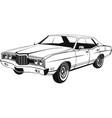 classic full-size american sedan art vector image vector image