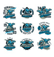 collection of design for printing on a t-shirt vector image vector image