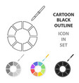 color wheel icon in cartoon style isolated on vector image vector image