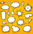 comic elements set 4 vector image