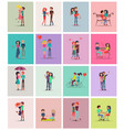 couples in love collection vector image vector image