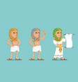 egyptian ancient people traditional wear character vector image