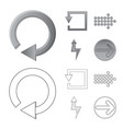 element and arrow icon vector image