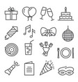 event line icons set on white background vector image vector image
