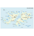 falkland islands also malvinas road map vector image vector image
