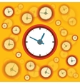 Flat clock background vector image vector image