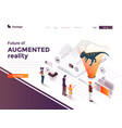 flat color modern isometric concept - augmented vector image vector image