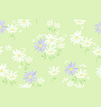 floral pattern with chamomile flowers vector image