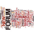 forums a one way ticket to easy free traffic text vector image vector image