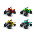 four quad bikes in different colours vector image