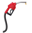 fuel nozzle with drop realistic 3d vector image vector image