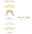 Fun silhouette mustaches vertical frame seamless vector image