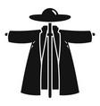 garden scarecrow icon simple style vector image vector image