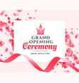 grand opening ceremony celebration banner design vector image vector image