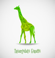 green triangulate giraffe vector image