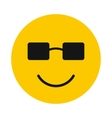 Happy smiley icon flat style vector image vector image