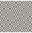 Irregular Maze Lines Seamless Black and vector image